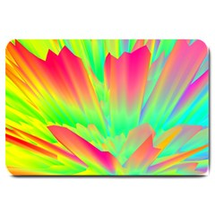 Screen Random Images Shadow Green Yellow Rainbow Light Large Doormat  by Mariart