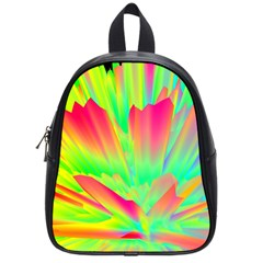 Screen Random Images Shadow Green Yellow Rainbow Light School Bags (small)  by Mariart