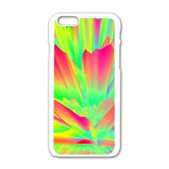 Screen Random Images Shadow Green Yellow Rainbow Light Apple Iphone 6/6s White Enamel Case by Mariart