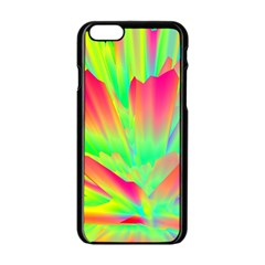 Screen Random Images Shadow Green Yellow Rainbow Light Apple Iphone 6/6s Black Enamel Case by Mariart