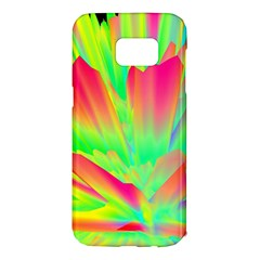 Screen Random Images Shadow Green Yellow Rainbow Light Samsung Galaxy S7 Edge Hardshell Case by Mariart