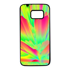 Screen Random Images Shadow Green Yellow Rainbow Light Samsung Galaxy S7 Black Seamless Case by Mariart