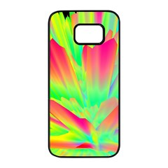 Screen Random Images Shadow Green Yellow Rainbow Light Samsung Galaxy S7 Edge Black Seamless Case by Mariart