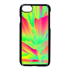 Screen Random Images Shadow Green Yellow Rainbow Light Apple Iphone 7 Seamless Case (black) by Mariart