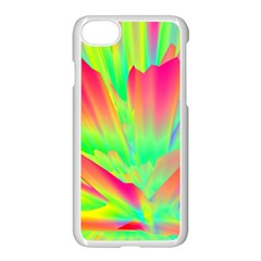 Screen Random Images Shadow Green Yellow Rainbow Light Apple Iphone 7 Seamless Case (white) by Mariart