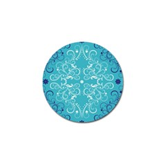 Repeatable Flower Leaf Blue Golf Ball Marker