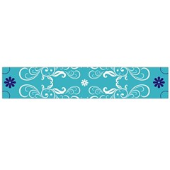 Repeatable Flower Leaf Blue Flano Scarf (large)