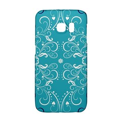 Repeatable Flower Leaf Blue Galaxy S6 Edge by Mariart