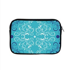 Repeatable Flower Leaf Blue Apple Macbook Pro 15  Zipper Case by Mariart