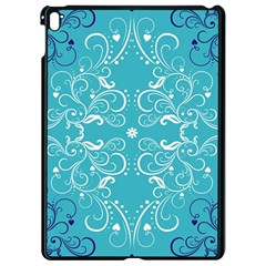 Repeatable Flower Leaf Blue Apple Ipad Pro 9 7   Black Seamless Case by Mariart