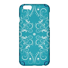 Repeatable Flower Leaf Blue Apple Iphone 6 Plus/6s Plus Hardshell Case by Mariart