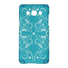 Repeatable Flower Leaf Blue Samsung Galaxy A5 Hardshell Case  by Mariart