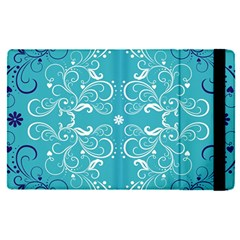 Repeatable Flower Leaf Blue Apple Ipad Pro 9 7   Flip Case by Mariart
