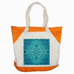 Repeatable Flower Leaf Blue Accent Tote Bag by Mariart