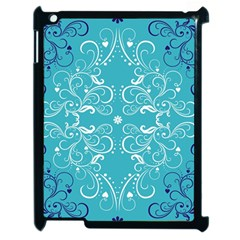 Repeatable Flower Leaf Blue Apple Ipad 2 Case (black) by Mariart