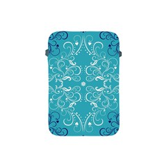 Repeatable Flower Leaf Blue Apple Ipad Mini Protective Soft Cases by Mariart