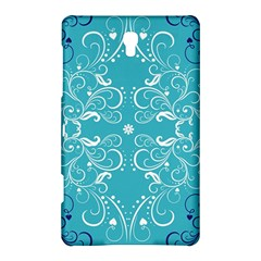 Repeatable Flower Leaf Blue Samsung Galaxy Tab S (8 4 ) Hardshell Case  by Mariart