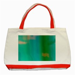 Shadow Faintly Faint Line Green Classic Tote Bag (red) by Mariart