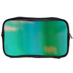 Shadow Faintly Faint Line Green Toiletries Bags