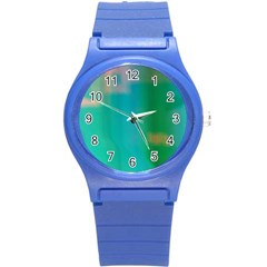 Shadow Faintly Faint Line Green Round Plastic Sport Watch (s) by Mariart