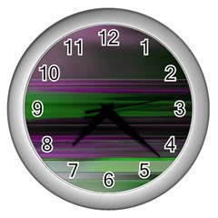 Screen Random Images Shadow Wall Clocks (silver)  by Mariart