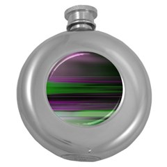 Screen Random Images Shadow Round Hip Flask (5 Oz) by Mariart