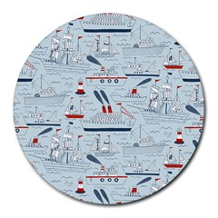 Ships Sails Round Mousepads by Mariart