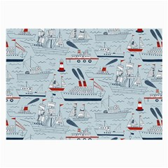 Ships Sails Large Glasses Cloth by Mariart