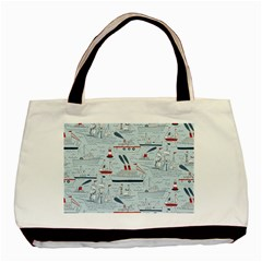 Ships Sails Basic Tote Bag (two Sides) by Mariart