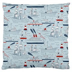 Ships Sails Large Cushion Case (one Side) by Mariart