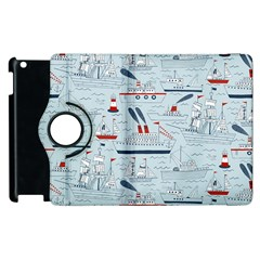 Ships Sails Apple Ipad 3/4 Flip 360 Case by Mariart