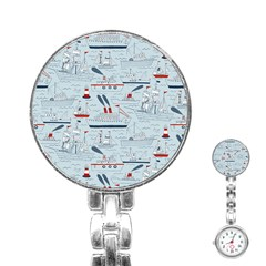 Ships Sails Stainless Steel Nurses Watch by Mariart