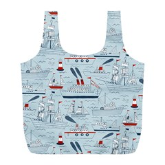 Ships Sails Full Print Recycle Bags (l)  by Mariart