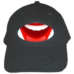 Smile Lips Transparent Red Sexy Black Cap