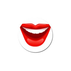 Smile Lips Transparent Red Sexy Golf Ball Marker by Mariart