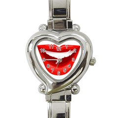 Smile Lips Transparent Red Sexy Heart Italian Charm Watch by Mariart