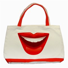 Smile Lips Transparent Red Sexy Classic Tote Bag (red)