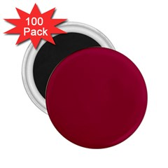 Burgundy Solid Color  2 25  Magnets (100 Pack)  by SimplyColor