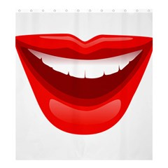 Smile Lips Transparent Red Sexy Shower Curtain 66  X 72  (large)  by Mariart