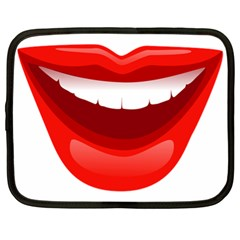 Smile Lips Transparent Red Sexy Netbook Case (xl)