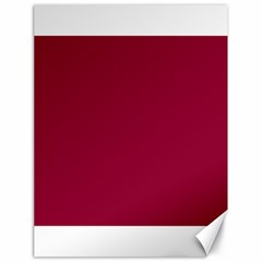 Burgundy Solid Color  Canvas 18  X 24   by SimplyColor