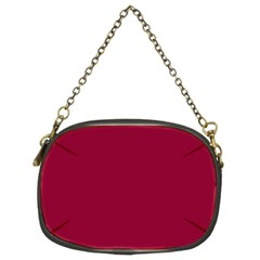 Burgundy Solid Color  Chain Purses (two Sides)  by SimplyColor