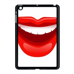 Smile Lips Transparent Red Sexy Apple Ipad Mini Case (black) by Mariart