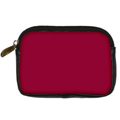 Burgundy Solid Color  Digital Camera Cases by SimplyColor
