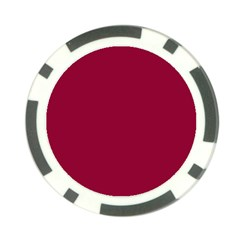 Burgundy Solid Color  Poker Chip Card Guard (10 Pack) by SimplyColor
