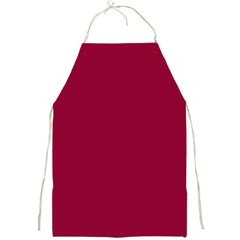 Burgundy Solid Color  Full Print Aprons by SimplyColor