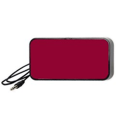 Burgundy Solid Color  Portable Speaker (black) by SimplyColor