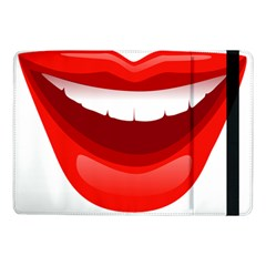 Smile Lips Transparent Red Sexy Samsung Galaxy Tab Pro 10 1  Flip Case by Mariart