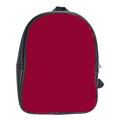Burgundy Solid Color  School Bags (xl)  by SimplyColor