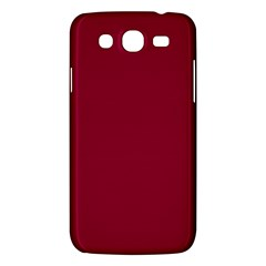Burgundy Solid Color  Samsung Galaxy Mega 5 8 I9152 Hardshell Case  by SimplyColor
